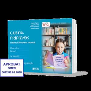 CAIETUL PRIETENOS. Limba şi literatura română. Clasa a V-a. Partea I (Sigma)