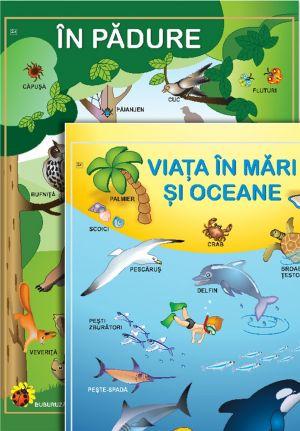 Viata in mari şi oceane, Viata in padure; planse (Epigraf)
