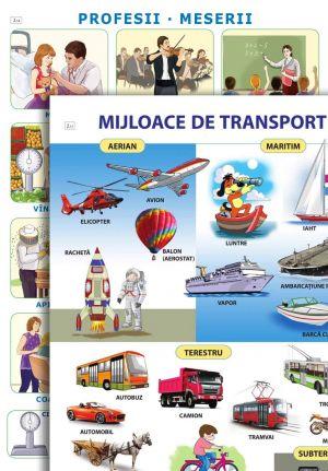Mijloace de transport, Profesii si meserii; planse (Epigraf)