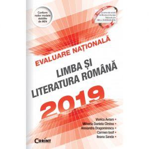 Evaluare nationala 2019. Limba si literatura romana (Corint)