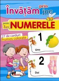 Invatam prin joc numerele +3ani. Carti de joc educative (Aramis)