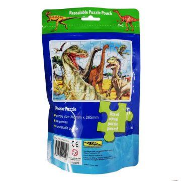 Puzzle Bag Dinosaur - Puzzle in punga resigilabila - Dinozauri (3152/DIPZ)