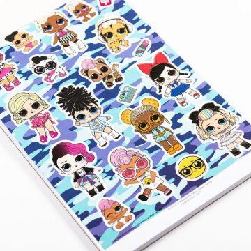 LOL Surprise Jumbo Colouring Pad- carte de colorat cu autocolante (3193/LOLJC)