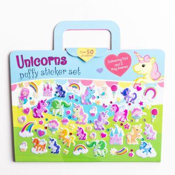 Unicorn Puffy Sticker Set (3259/UNPY)