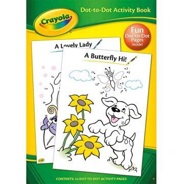 Crayola Dot to Dot Activity Book, Carte de colorat si de activitati (2965/CYDD)