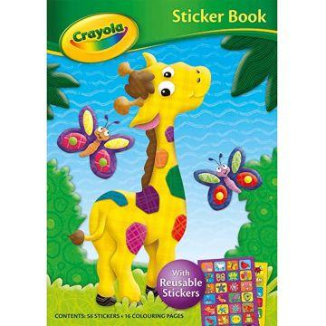 Crayola Sticker Book 2 GIRAFFE, Carte de colorat cu autocolante reutilizabile (2907/CYSB2)