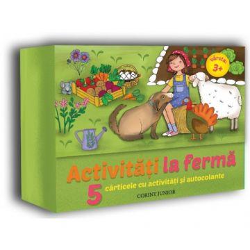Activitati la ferma, 5 carti cu activitati si autocolante (Corint)