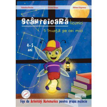 Scanteioara licurici ii invata pe cei mici - Activitati matematice pentru 4-5 ani