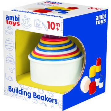 AMBI TOYS Set de construit - Pahare colorate