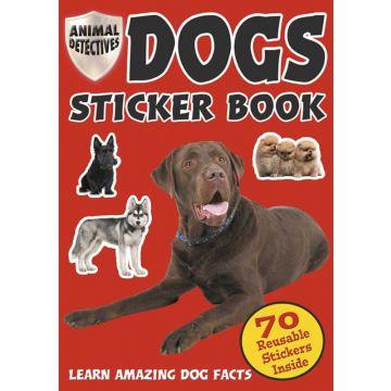 Animal Detective Dog, Carte cu autocolante cu caini (2032/DOSB)