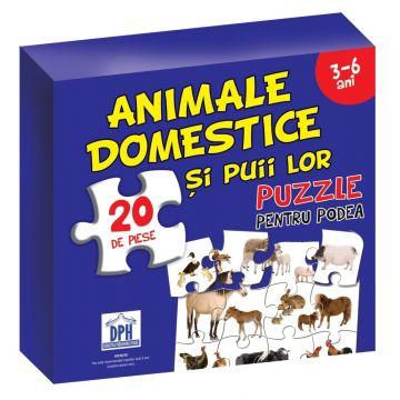 Animale domestice si puii lor. Puzzle pentru podea 3-6 ani (DPH)