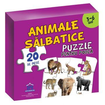 Animale salbatice. Puzzle pentru podea 3-6 ani (DPH)