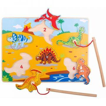 BigJigs Joc magnetic - Dinozaurii fiorosi