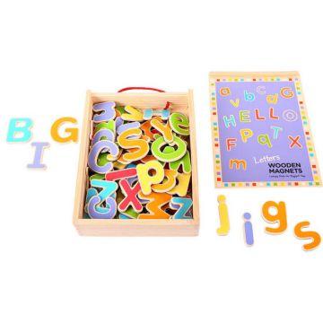 BigJigs Litere magnetice din lemn
