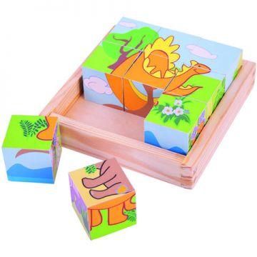 BigJigs Puzzle cubic - dinozauri