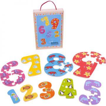 BigJigs Puzzle-ul cifrelor 1 - 9