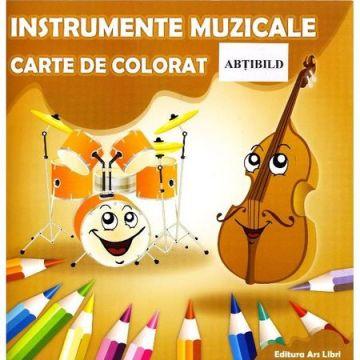 Carte de colorat - Instrumente muzicale (Ars Libri)