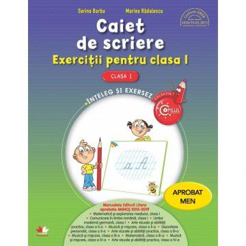 Caiet de scriere. Exerciții pentru clasa I (Litera)