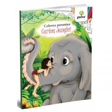 Cartea Junglei- COLOREZ POVESTEA (GAMA)