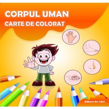 Carte de colorat - Corpul uman (Ars Libri)