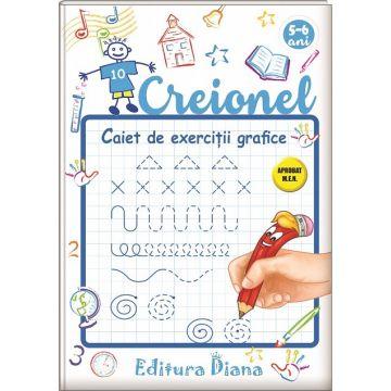 Creionel - caiet de exerciții grafice 5-6 ani- CULEA 2020(Diana)