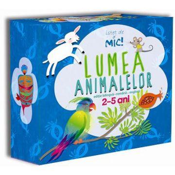 CUTIE ISTET DE MIC - VOLUMUL 2 LUMEA ANIMALELOR ROMAN-ENGLEZ - 5 CARTI