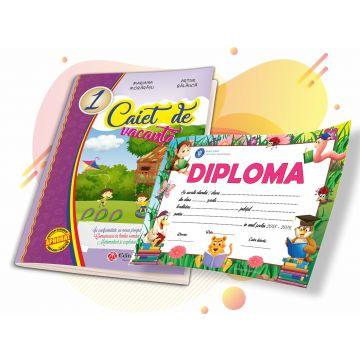 Caiet de vacanta Clasa I - Comunicare in limba romana, Matematica si explorarea mediului + DIPLOMA CADOU