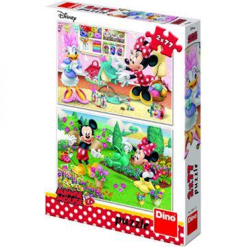 Dino Toys Puzzle 2 in 1 - Minnie la treaba (77 piese)