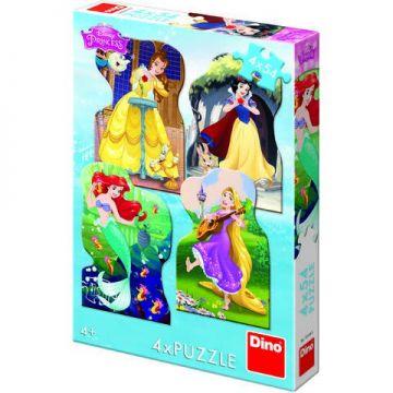 Dino Toys Puzzle 4 in 1 - Printesele si prieteni (54 piese)