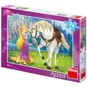 Dino Toys Puzzle - Rapunzel si calutul Maximus (24 piese)