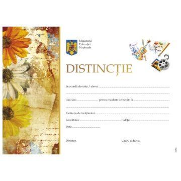 Distinctie la Abilitati practice, Desen (diploma)