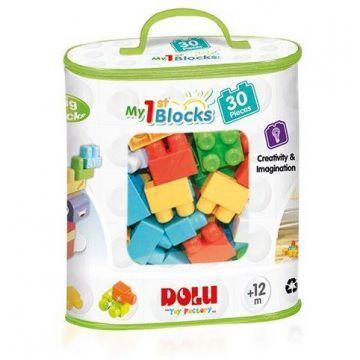 DOLU Primele cuburi de construit - 30 piese