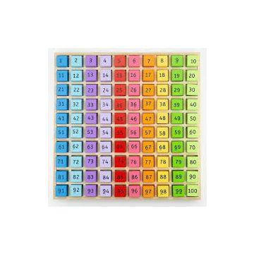 BigJigs Tabla cu 100 de numere colorate