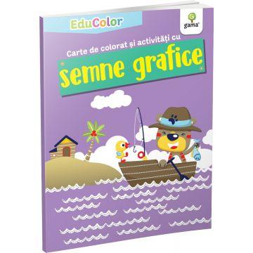 Carte de colorat si activitati cu semne grafice (EduColor) (Gama)