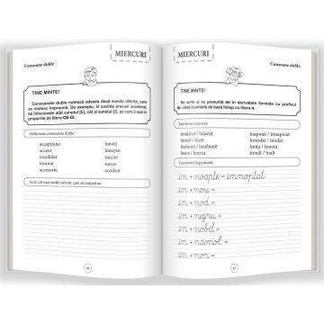 Scriere si grupuri de litere • clasele I-II (EXERSEZ 10 MINUTE PE ZI) (Gama)