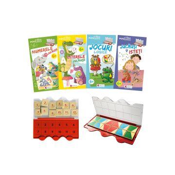 Set joc educativ LUK, varsta 6+, Matematica, limba romana, logica si creativitate (Kreativ)