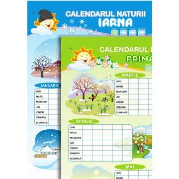 Calendar, iarna si primavara; planse (Epigraf)