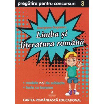 Culegere de pregatire pentru concursuri scolare, Limba si literatura Romana, Clasa a III-a (ECRE)