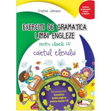 Exercitii de gramatica limbii engleze. Caiet pentru clasele I-IV (Aramis)