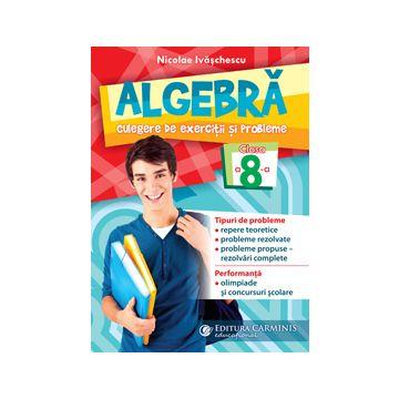Algebra. Culegere de exercitii si probleme. Clasa a 8-a (Carminis)
