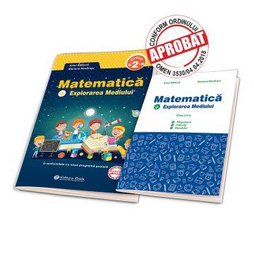 Matematica si explorarea mediului clasa a II-a de Artur Balauca + BROSURA SOLUTII, INDICATII, RASPUNSURI(Taida)