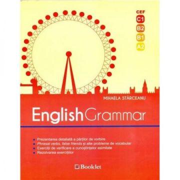 English grammar - Prezentarea detaliata a partilor de vorbire, vocabular, exercitii, rezolvarea exercitiilor (Booklet)