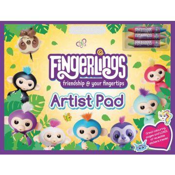 Fingerlings Artist Pad, Carte de colorat si activitati (3098/FIAR)