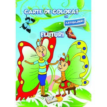 Carte de colorat cu abtibilduri. Fluturi (Ars Libri)
