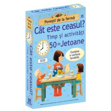 CAT ESTE CEASUL - TIMP SI ACTIVITATI - 50 DE JETOANE (Didactica publishing house)