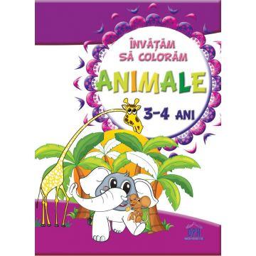 Invatam sa coloram - Animale (3-4 ani)