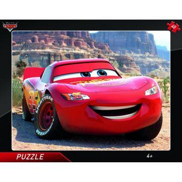 Dino Toys Puzzle cu rama - Fulger McQueen (25 piese)