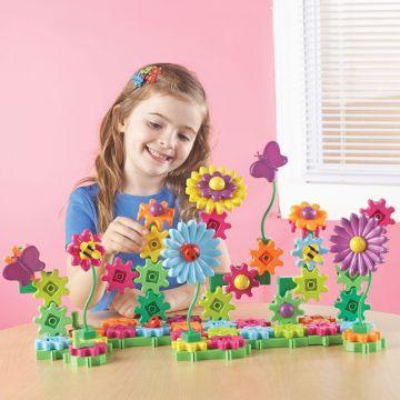 Learning Resources Set de constructie - Gears! Floral