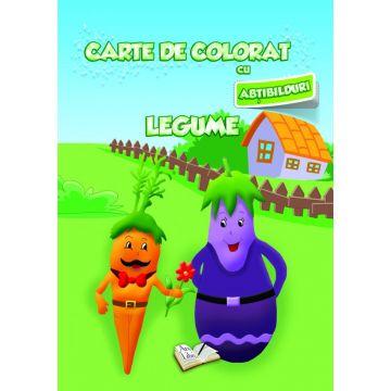 Carte de colorat cu abtibilduri. Legume (Ars Libri)