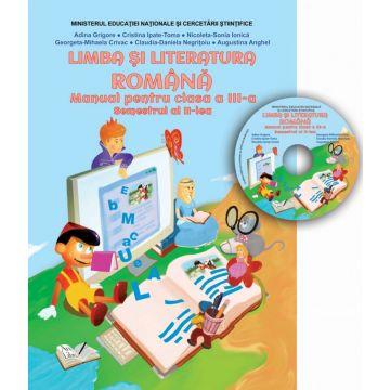 Manual limba si literatura Romana - Clasa a III-a - Semestrul II (CD inclus)